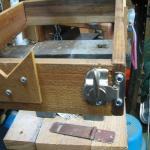 The finished and attached hasp and frame. Beautiful!