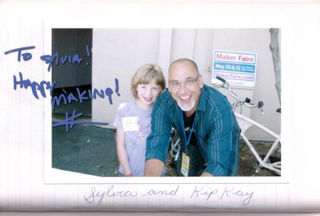 Me and Kipkay!! (from my autograph book)